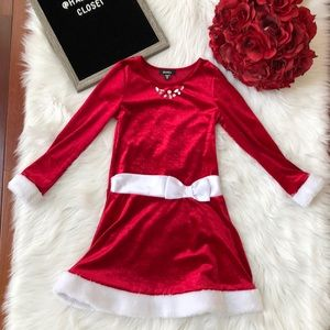Zunie girls Christmas red dress 6X